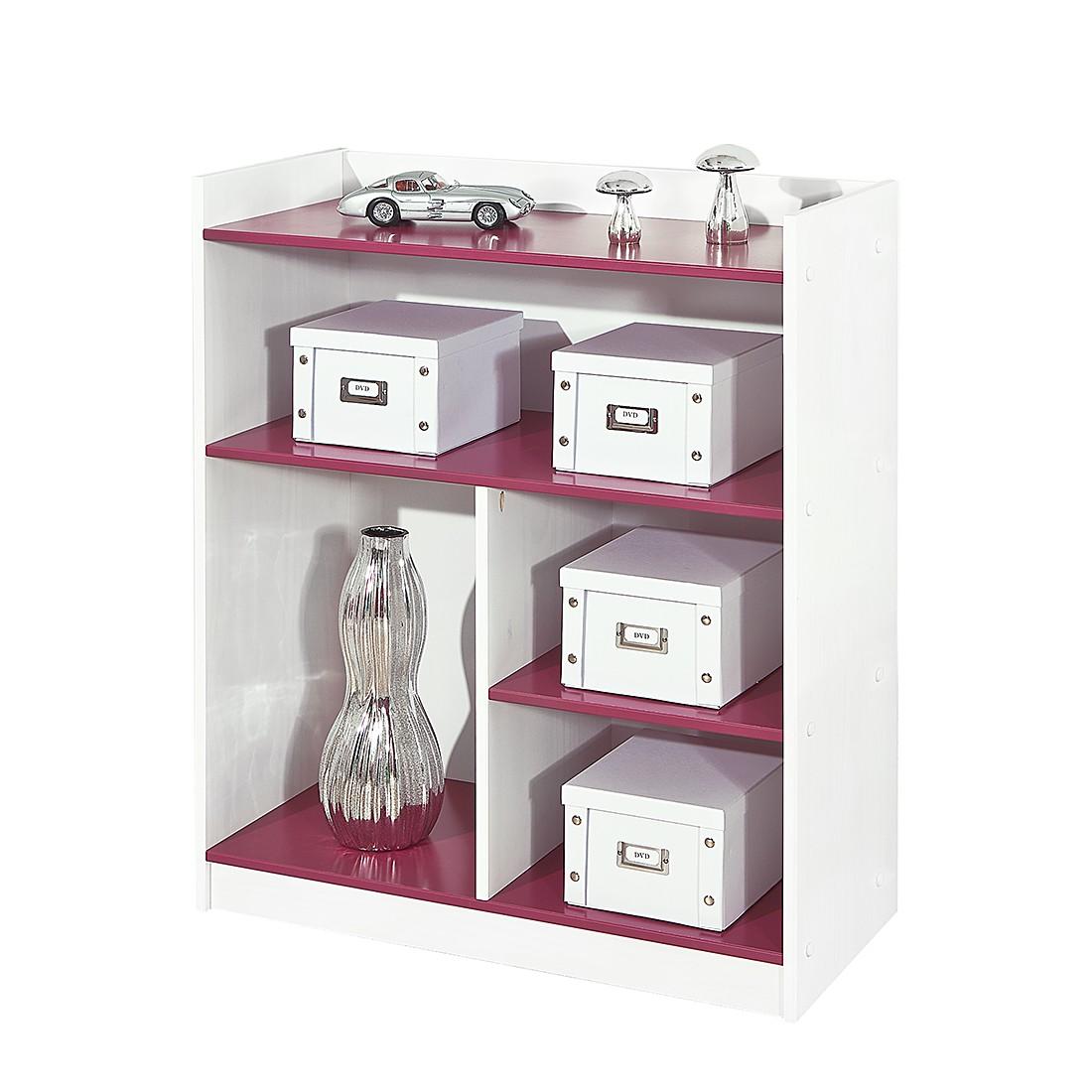 Regal Magentina – Kiefer teilmassiv – Weiß/Pink, home24 online bestellen