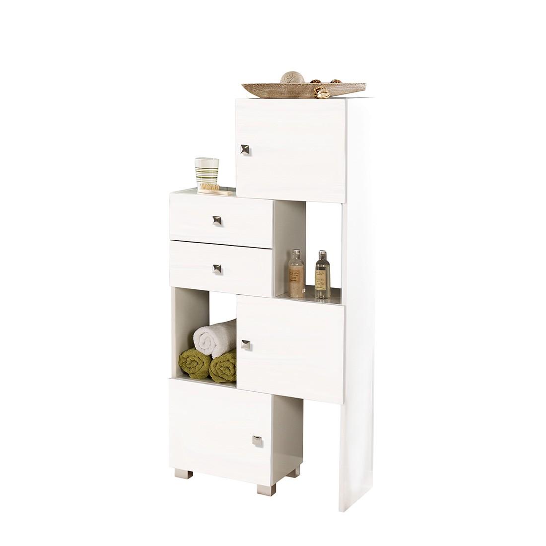 regal montreal mit vier raster weiss glanz giessbach g nstig. Black Bedroom Furniture Sets. Home Design Ideas