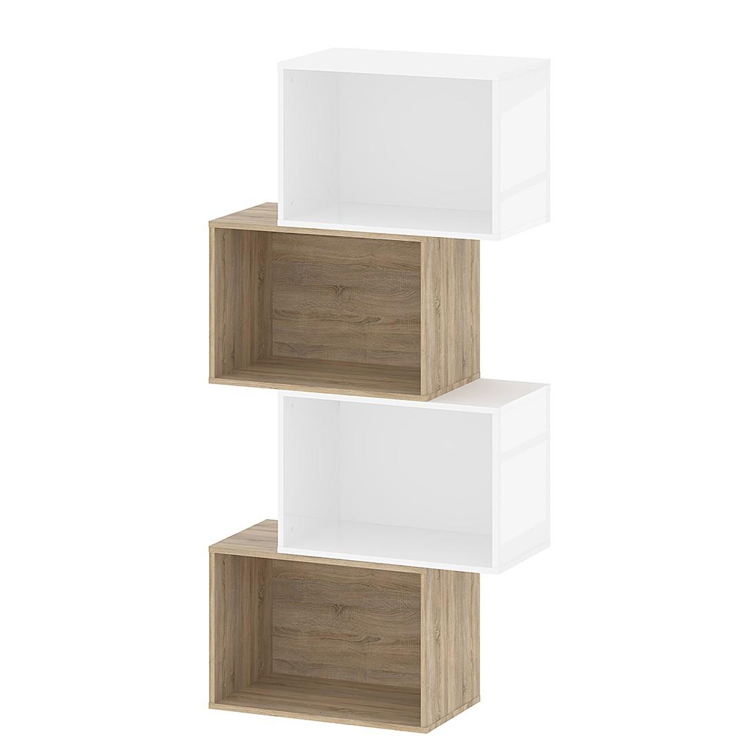 regal baseline sonoma eiche dekor 6 f cher h he 197 5 cm mooved g nstig online kaufen. Black Bedroom Furniture Sets. Home Design Ideas