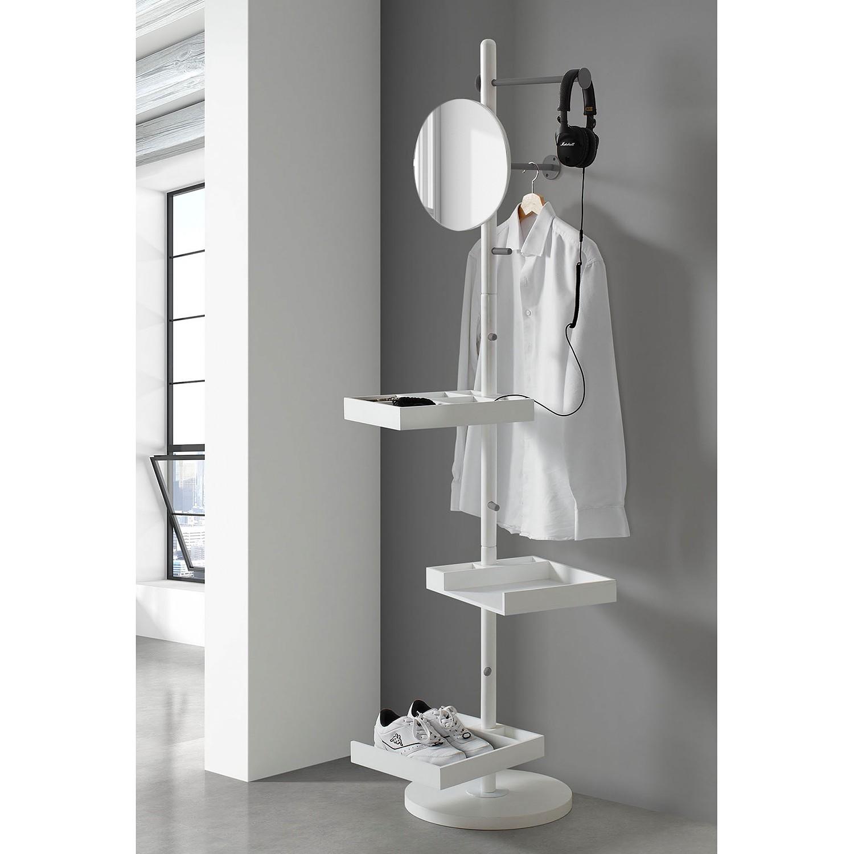 Regal Totem – Birke teilmassiv – Weiß / Grau, Morteens kaufen