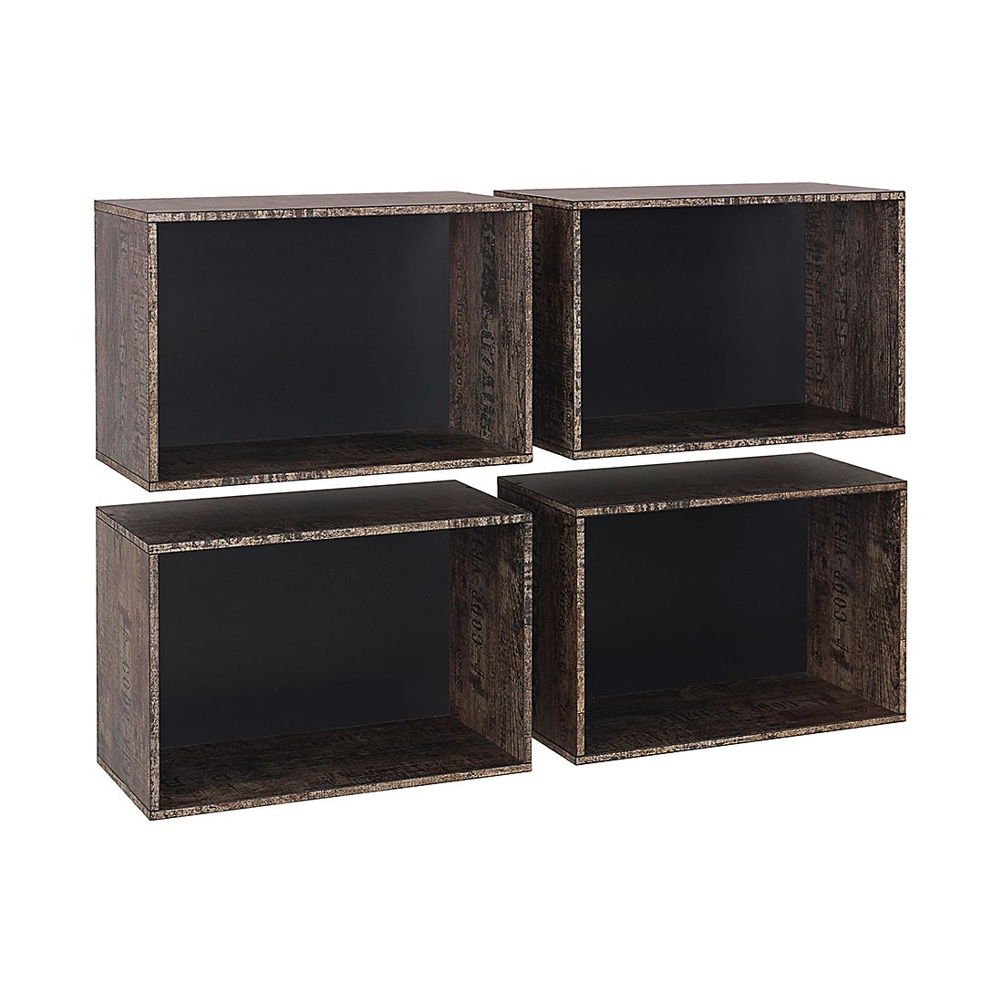 Kisten Sumatra (4-delige set) - vintage bruin/zwart, Rauch Select