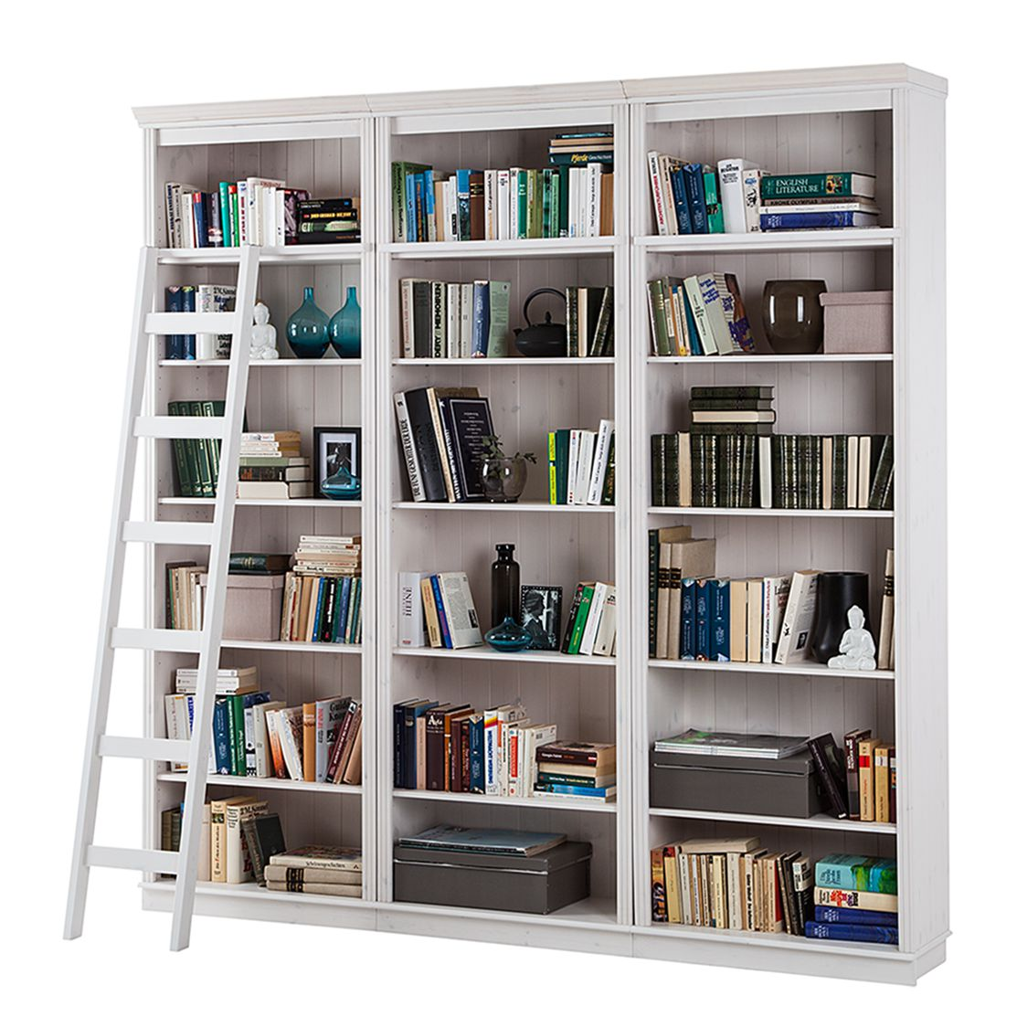 lars larson regalleiter massiv b cherwand wandregal bibliothek verstauen. Black Bedroom Furniture Sets. Home Design Ideas