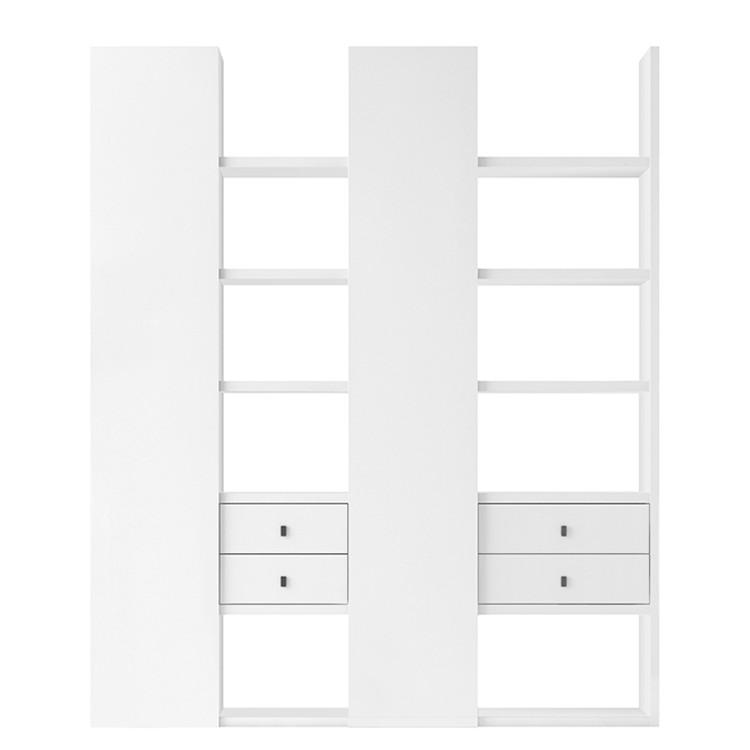 Regalwand Emporior I – Hochglanz Weiß, loftscape bestellen