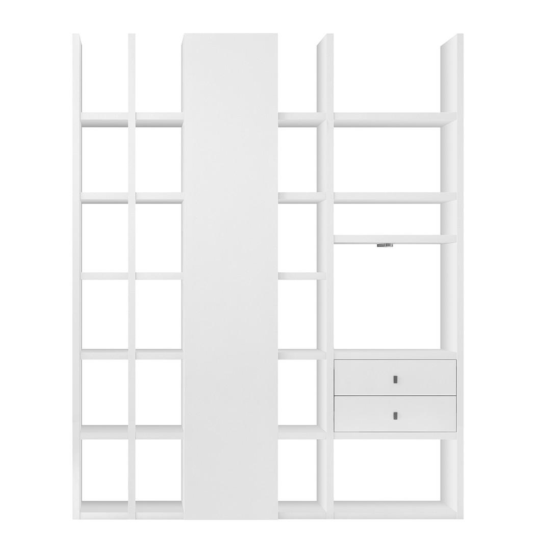 Regalwand Emporior IV - Weiß (Matt Weiß ohne Beleuchtung)