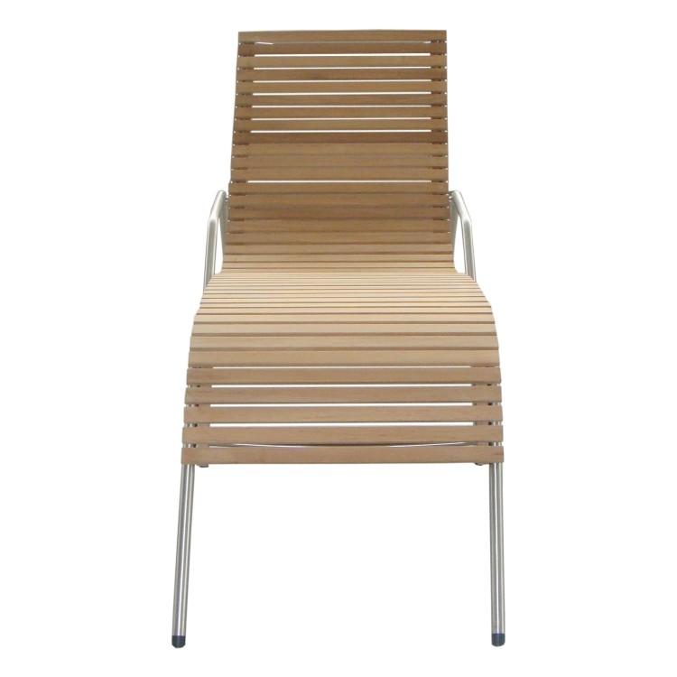 Ergonomische Relaxliege Holz ~ Outflexx Sonstige Relaxliege Tede Teakholz  Edelstahl Braun
