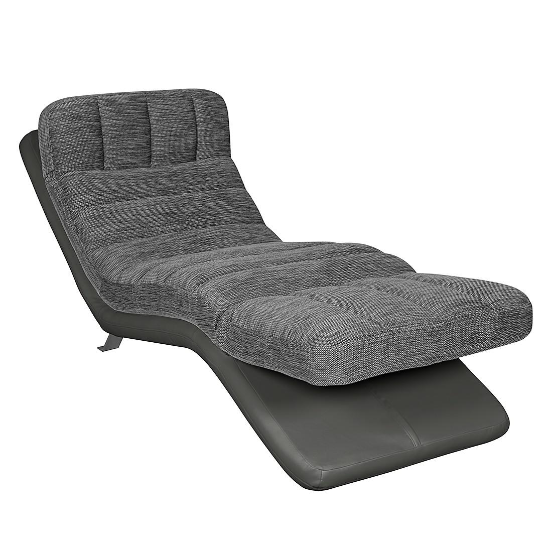 Relaxfauteuil Vascan - kunstleer/structuurstof wit/grijs - Grijs, Cotta