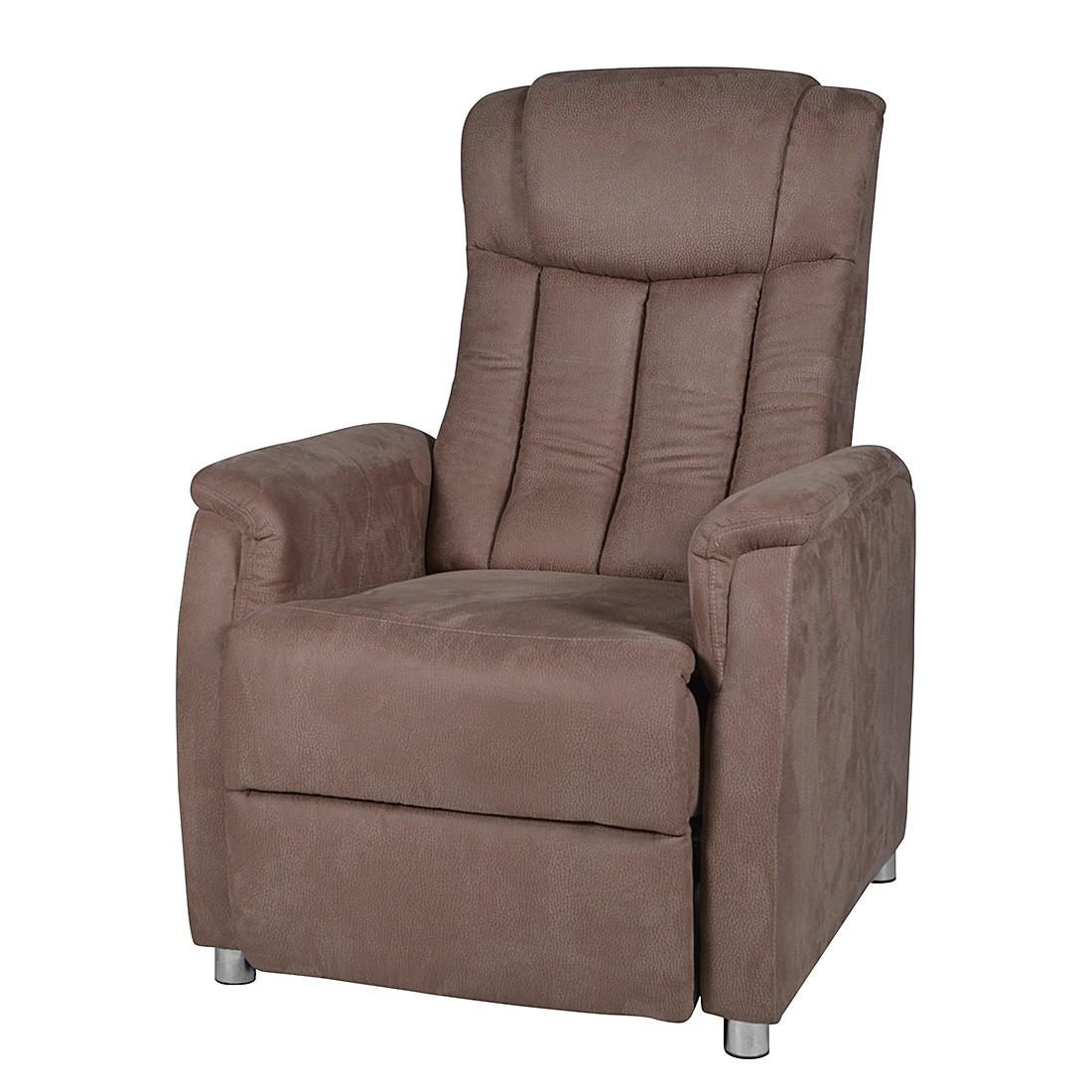 fauteuil de relaxation juist microfibre aspect cuir marron duo collection le fait main. Black Bedroom Furniture Sets. Home Design Ideas