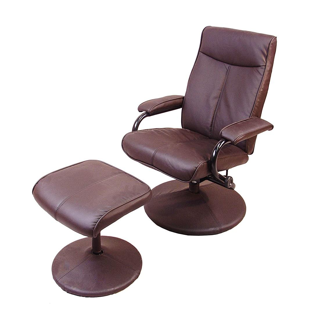 relaxsessel lerana mit hocker kunstleder mocca home design g nstig kaufen. Black Bedroom Furniture Sets. Home Design Ideas