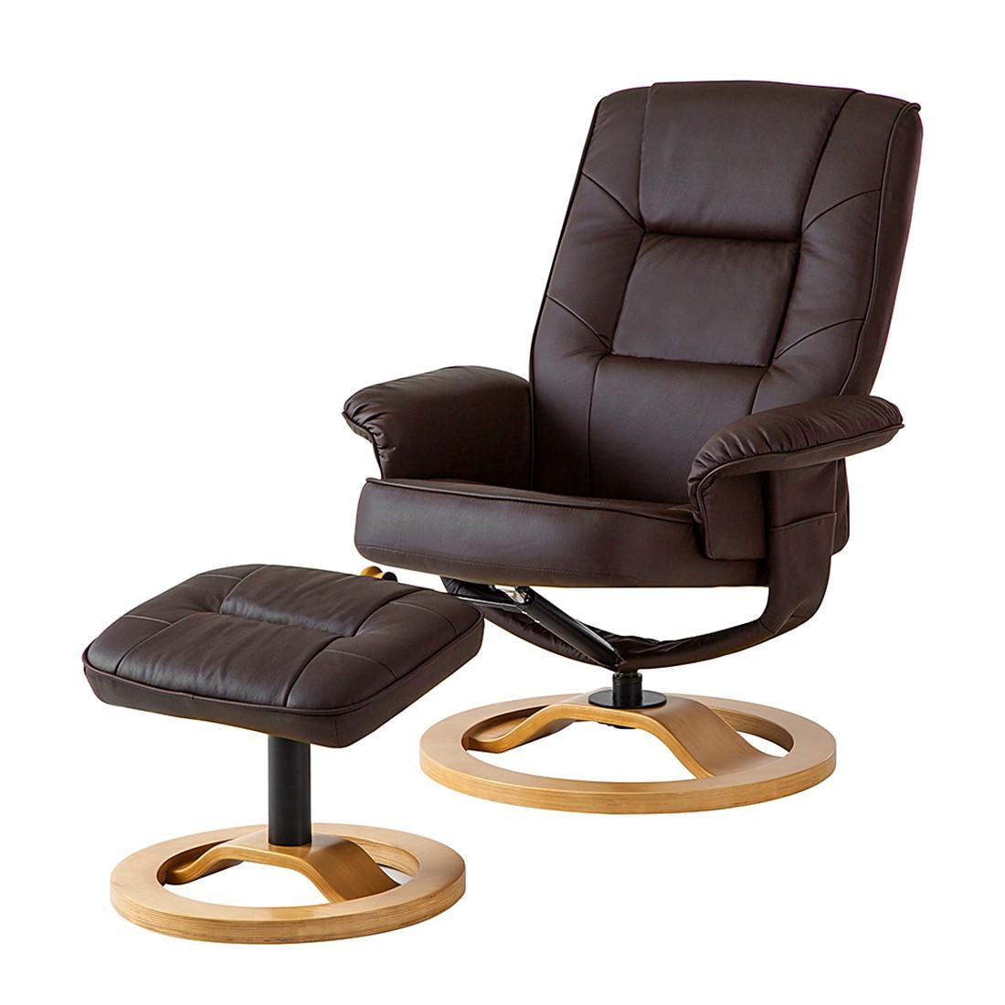 Relaxsessel Montreal (mit Hocker) – Kunstleder Braun, Nuovoform kaufen
