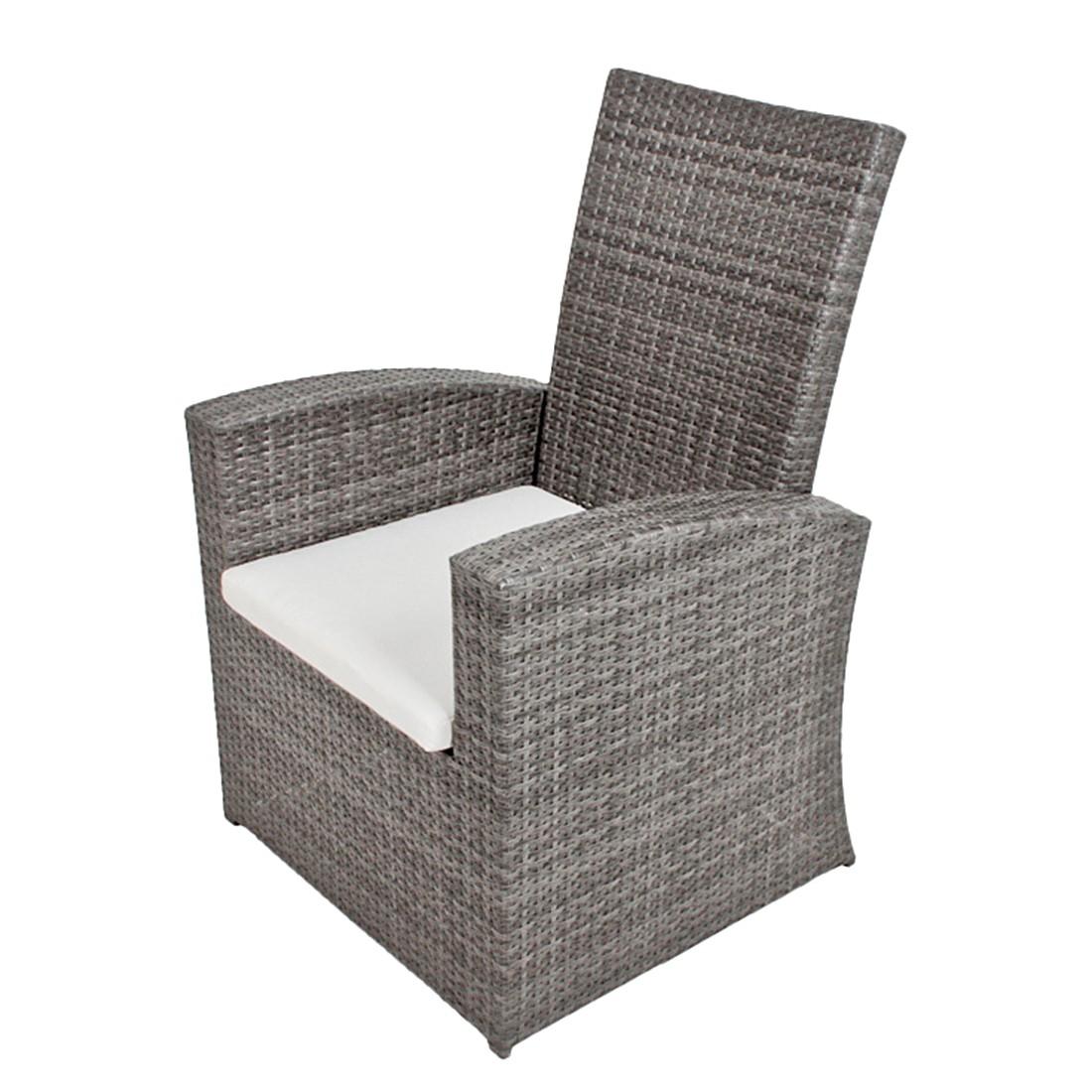 Relaxsessel Santa Lucia – Polyrattan Grau – Rückenlehne verstellbar, Garden Pleasure jetzt bestellen