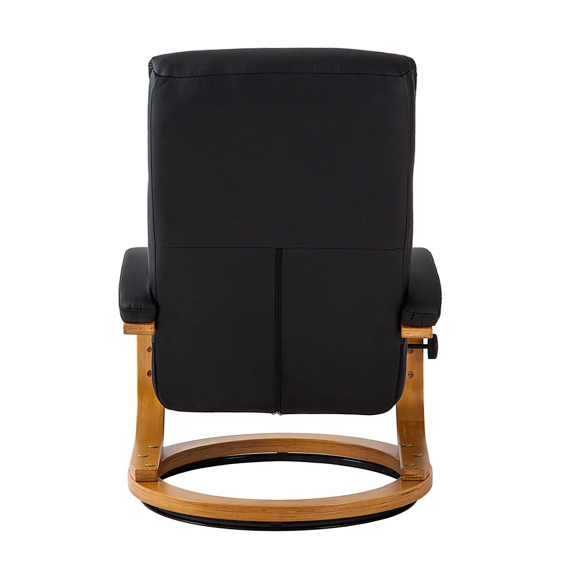 relaxsessel vancouver mit hocker kunstleder schwarz tv sessel fernsehsessel. Black Bedroom Furniture Sets. Home Design Ideas