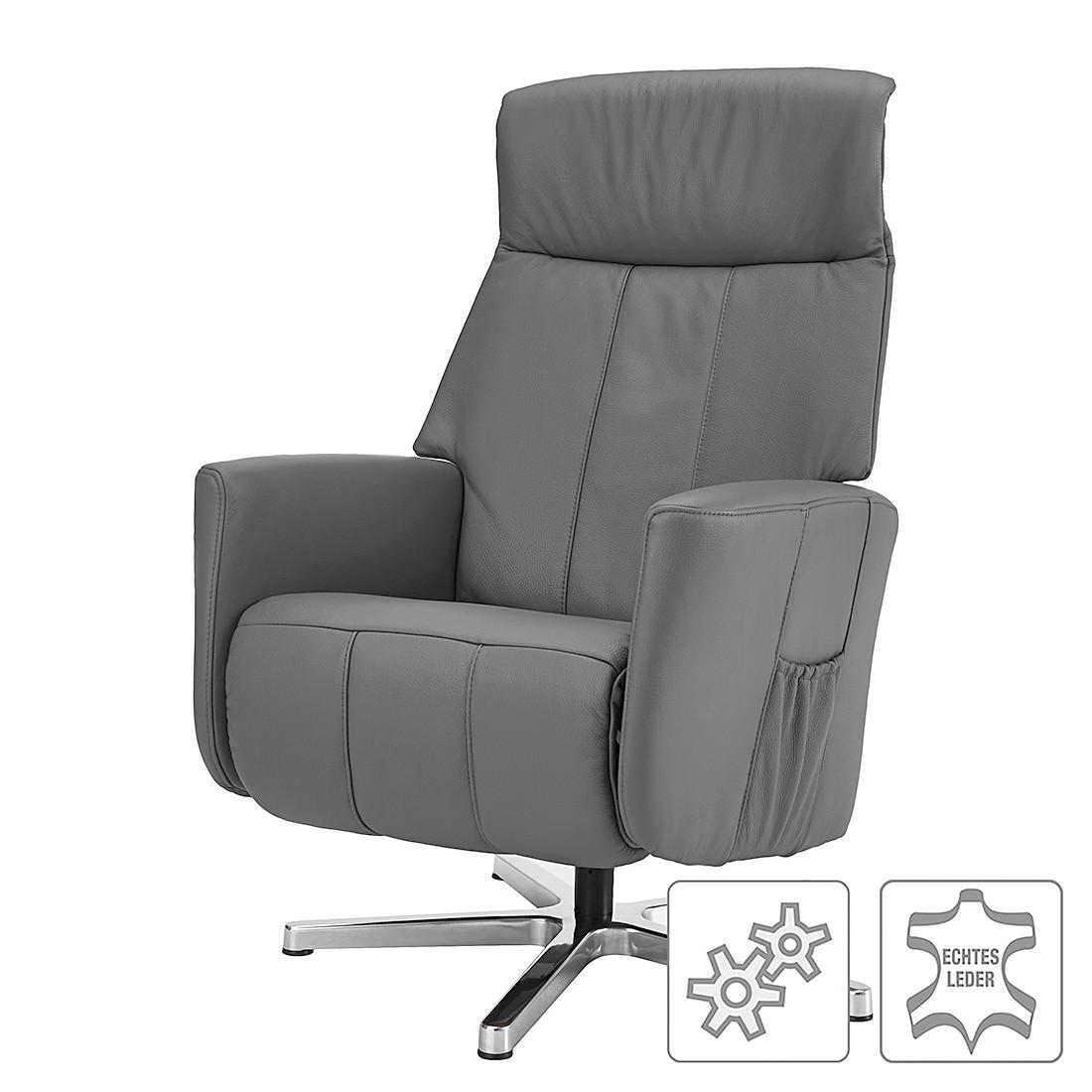 Relaxsessel Wesley – Echtleder – Einmotorige Verstellung – Grau, Nuovoform online kaufen