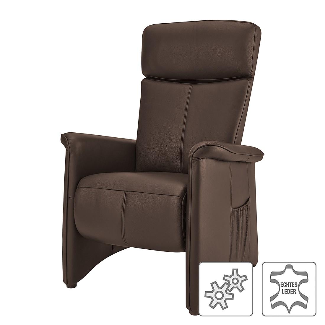 Relaxsessel Wynton – Echtleder – Einmotorige Verstellung – Braun, Nuovoform günstig kaufen