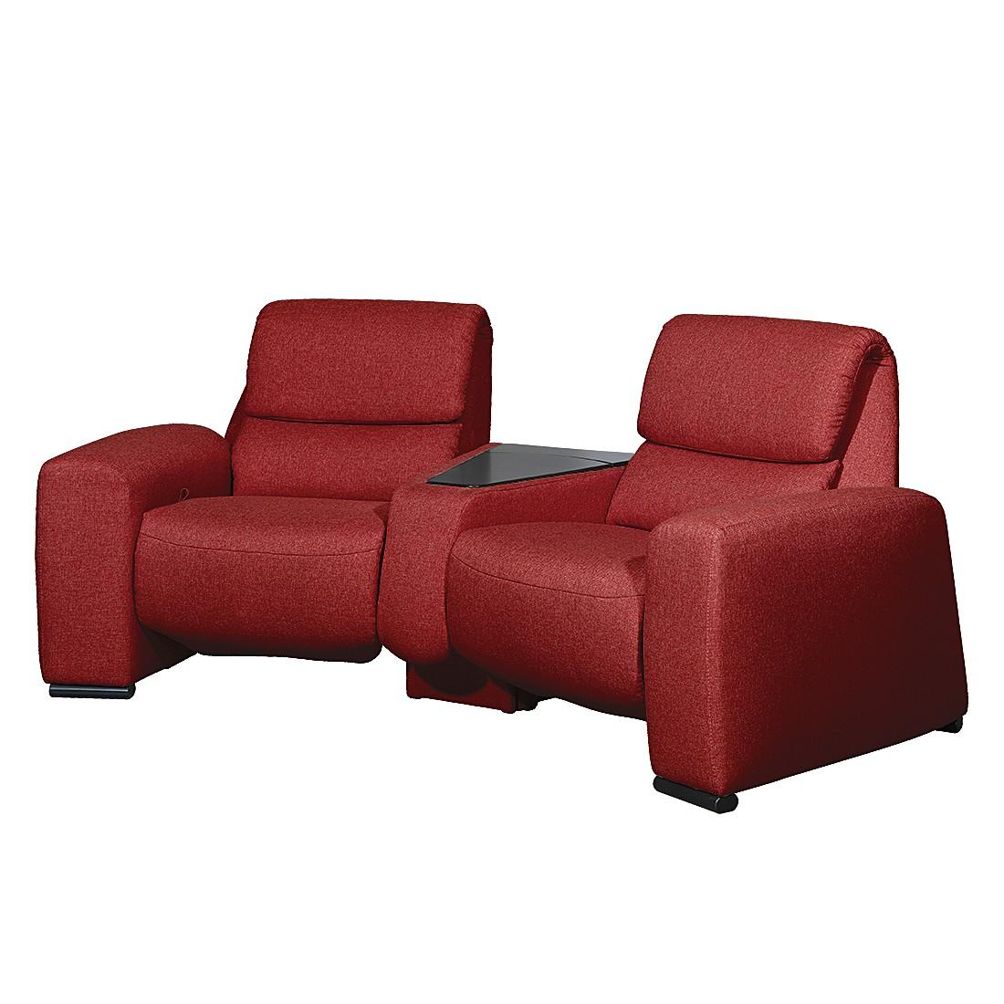 Relaxsofa Space (2-Sitzer) – Webstoff – Mit Relaxfunktion – Rot, trendline by ADA günstig online kaufen