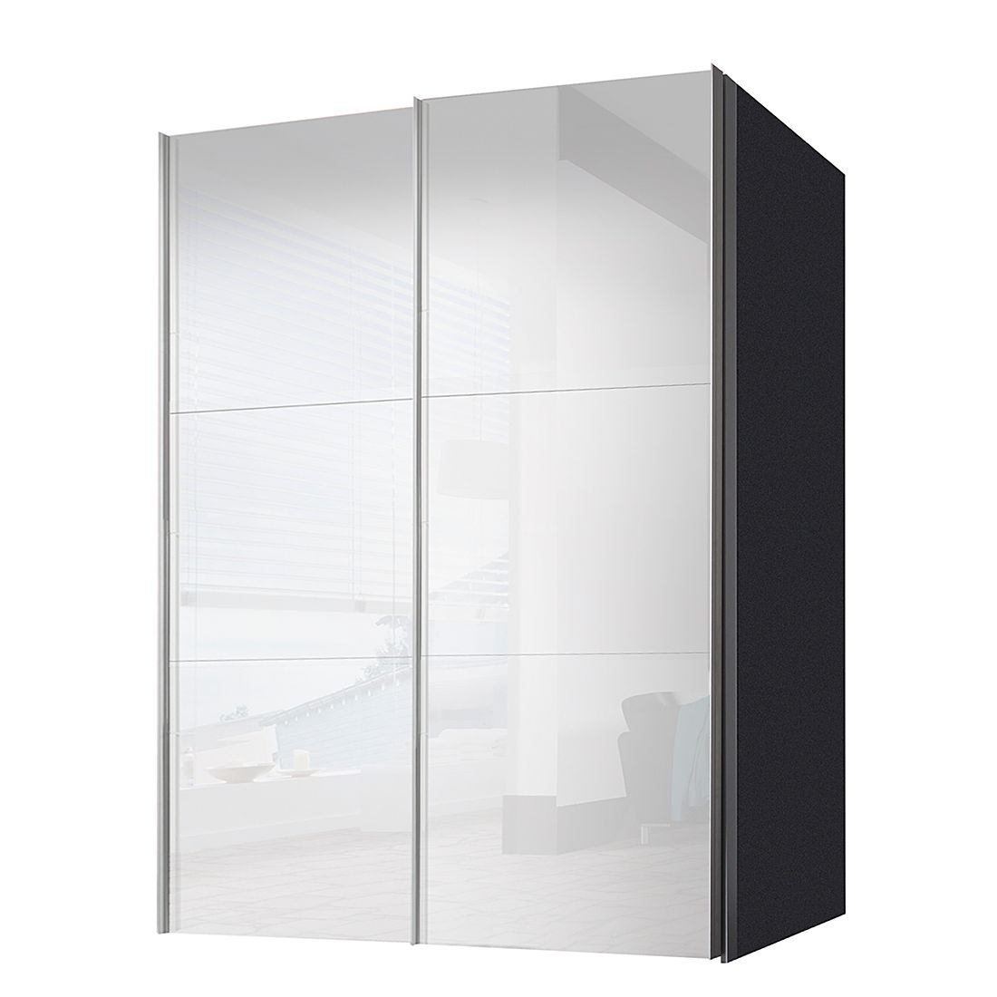 schwebet renschrank ruby graphit wei glas breite x h he 250 x 236 cm 2 t rig schrank. Black Bedroom Furniture Sets. Home Design Ideas