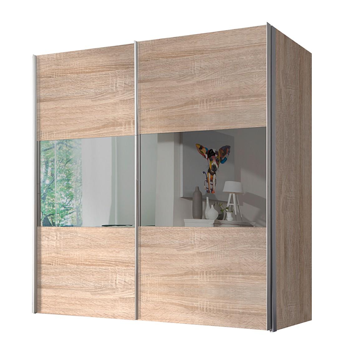 Schwebetürenschrank Ruby – Sonoma Eiche Dekor/Grauspiegel – BxH: 300 x 236 cm – 3-türig, Solutions kaufen