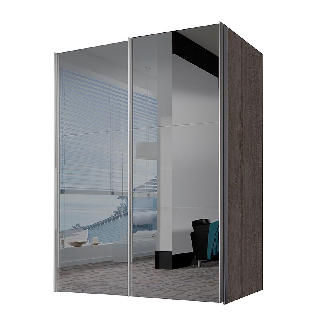 schwebet renschrank ruby tr ffeleiche dekor grauspiegel bxh 300 x 236 cm 3 t rig. Black Bedroom Furniture Sets. Home Design Ideas