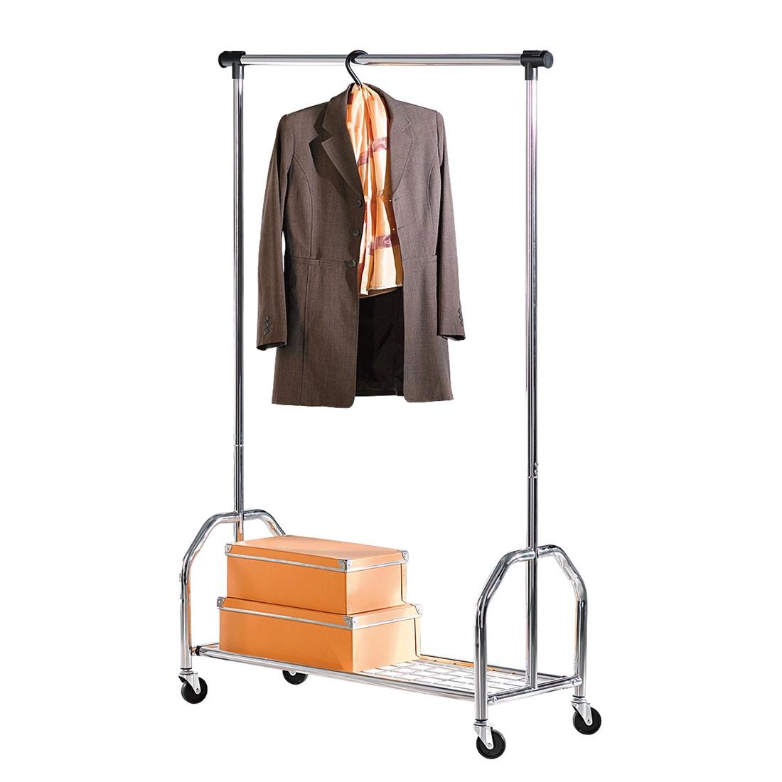Rollbare Garderobe – Eisen – Silber, PureDay günstig online kaufen