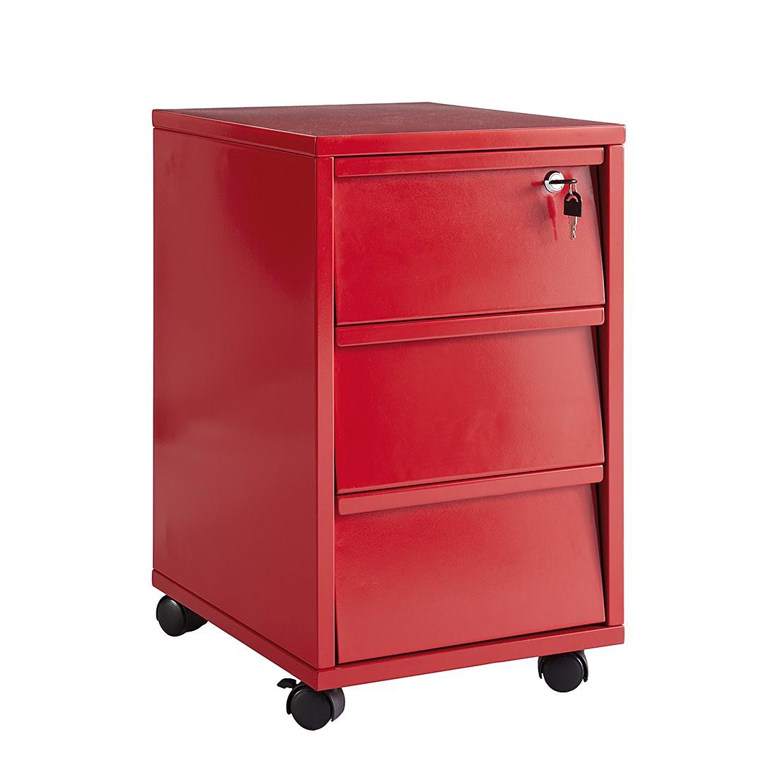 Rollcontainer Brest - Abschließbar Rot