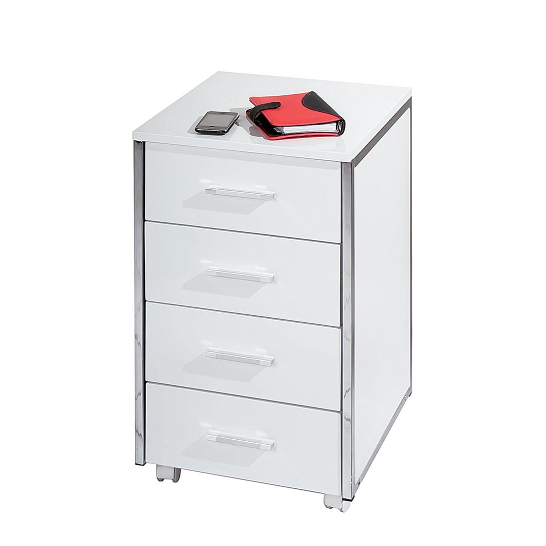 Rollcontainer Multi - Hochglanz Weiß
