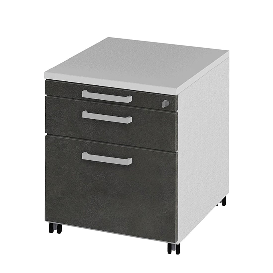Rollcontainer Objekt.Plus I – Weiß/Grau, röhr bestellen