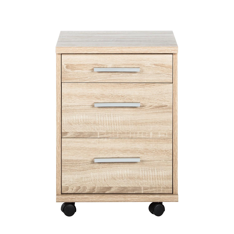 rollcontainer office line eiche rollwagen rollschrank. Black Bedroom Furniture Sets. Home Design Ideas