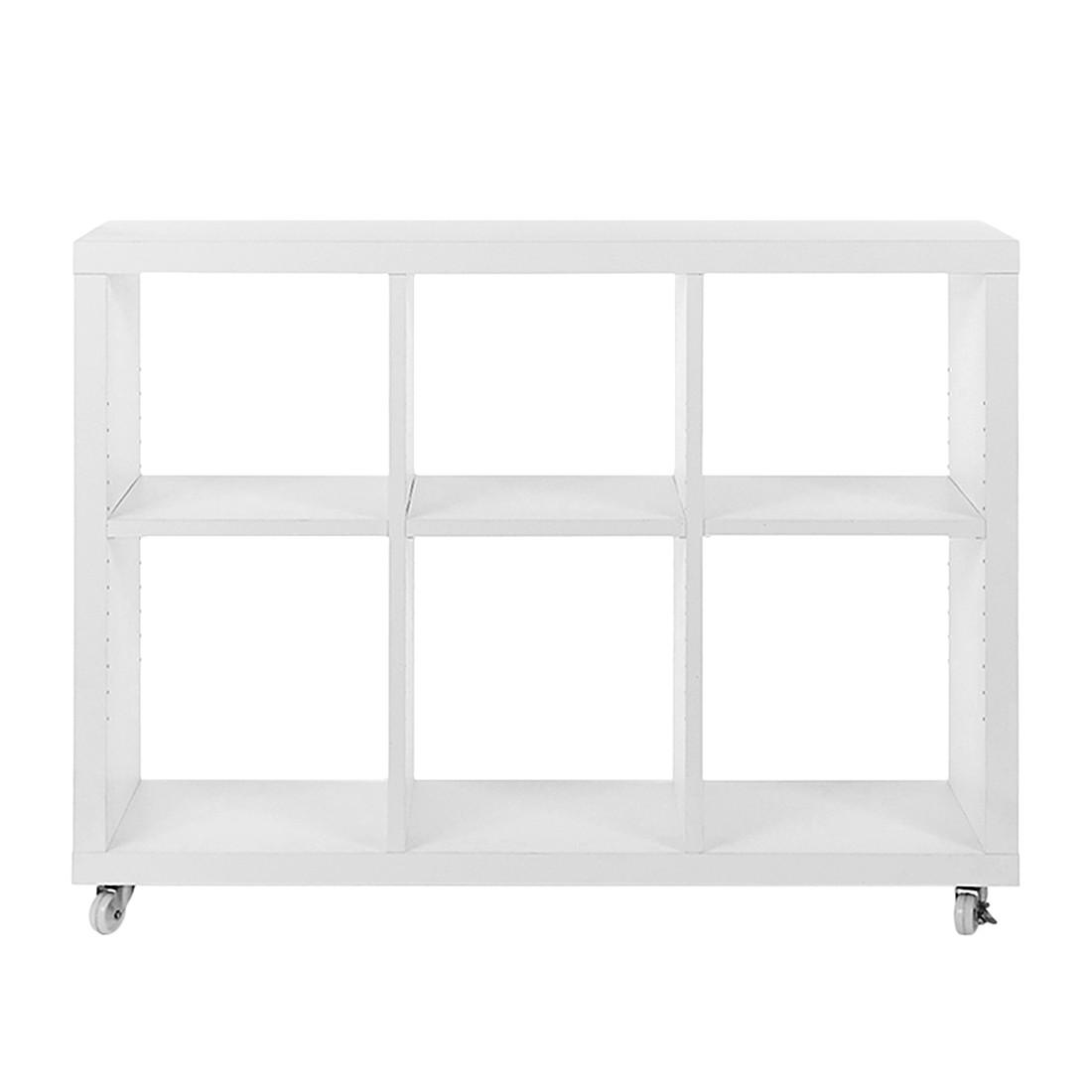 Rollregal – Faserholz – Weiß, PureDay günstig online kaufen