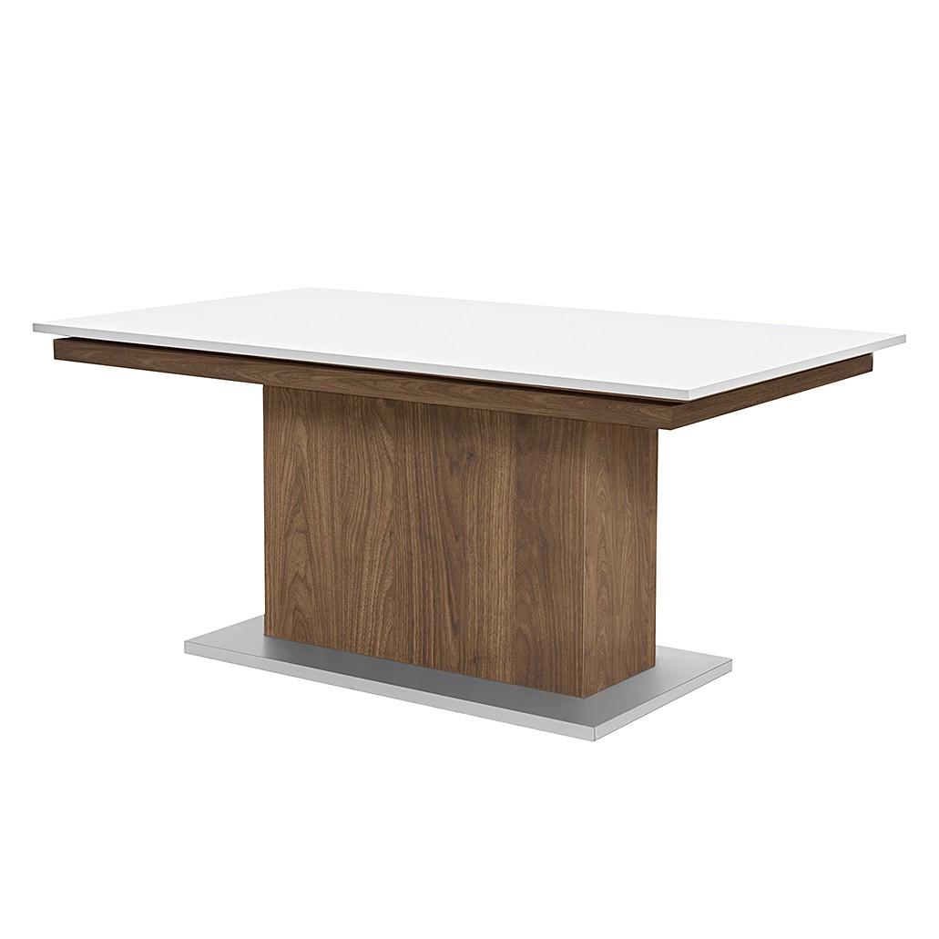 Säulentisch Deck – Walnuss Dekor/Hochglanz Weiß – 190 x 75 cm, Arte M online kaufen