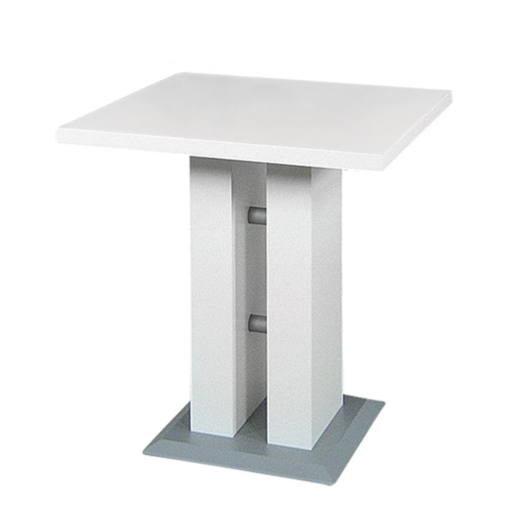 Säulentisch Luxor – Weiß / Silber, Home Design jetzt bestellen