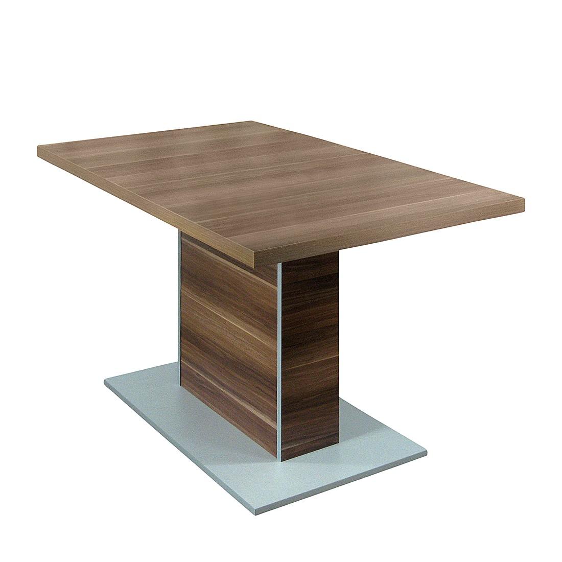 Säulentisch Montreal – Ausziehfunktion – Dekor Kernnuss, Home Design günstig kaufen