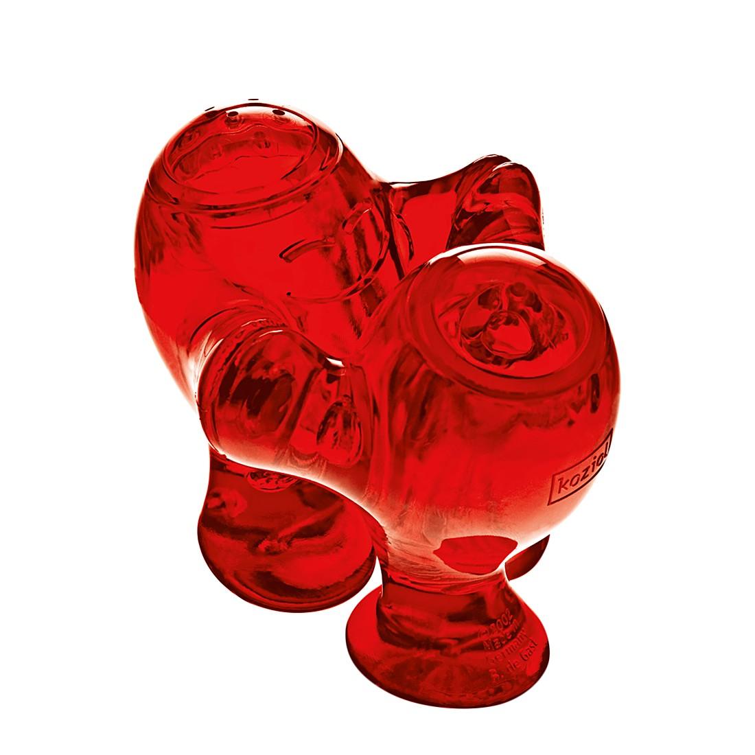 Salz- & Pfefferstreuer Step´N Pep Rot – Spülmaschinengeeignet, Koziol jetzt bestellen