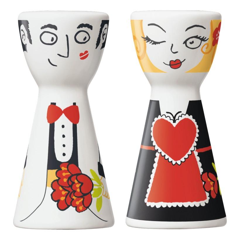 Salz- und Pfefferstreuer Mr. Salt & Mrs. Pepper – Design Sandra Kretzmann – 2006 – 1710026, Ritzenhoff online kaufen