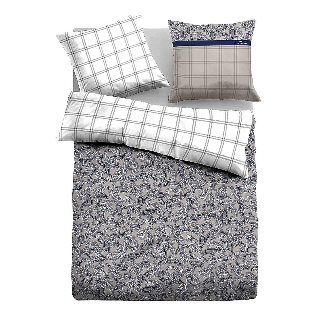 Satin Bettwäsche Paisley – Grau – 135 x 200 cm + Kissen 80 x 80 cm, Tom Tailor günstig online kaufen