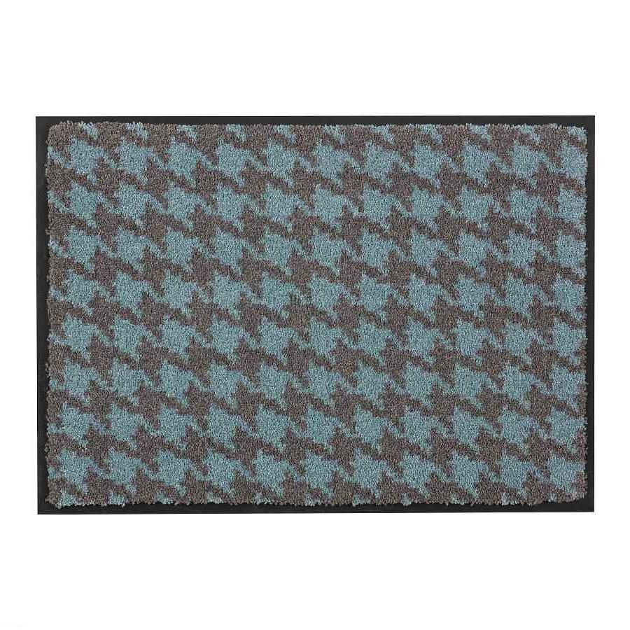 Fußmatte Broadway Hahnentritt – Türkis – 50 x 70 cm, Schöner Wohnen Kollektion jetzt kaufen
