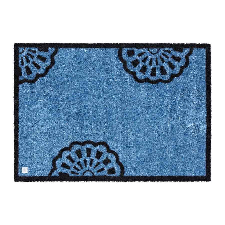 Sauberlaufmatte Lace – Farbe Blau – 50x70cm, barbara becker home passion günstig online kaufen