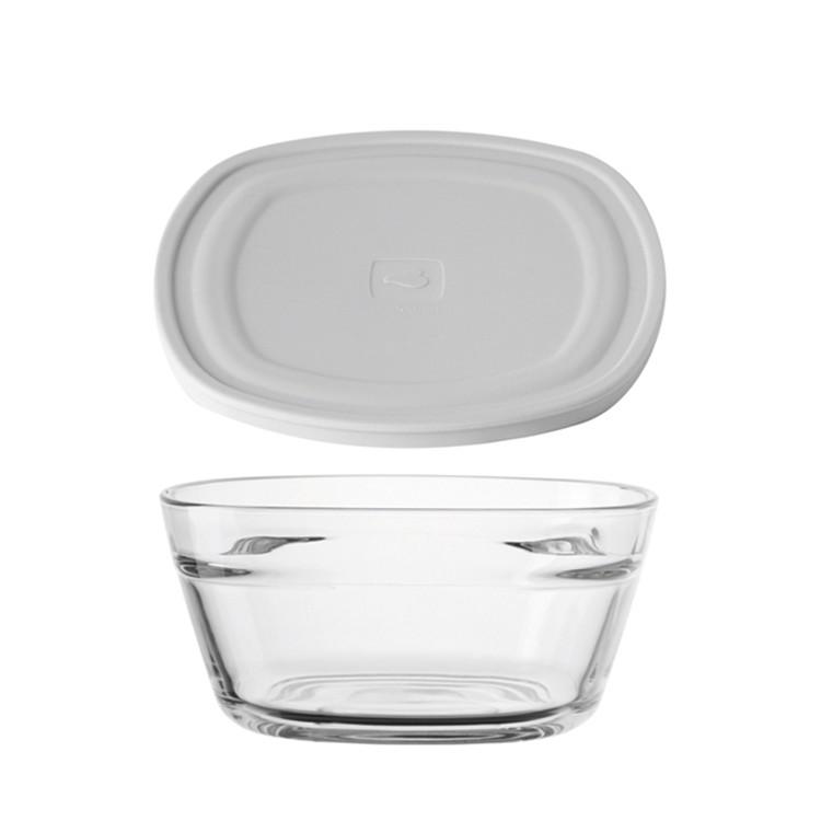 Schale Mio (2-teilig) – Grau – Mit Silikondeckel, Leonardo bestellen