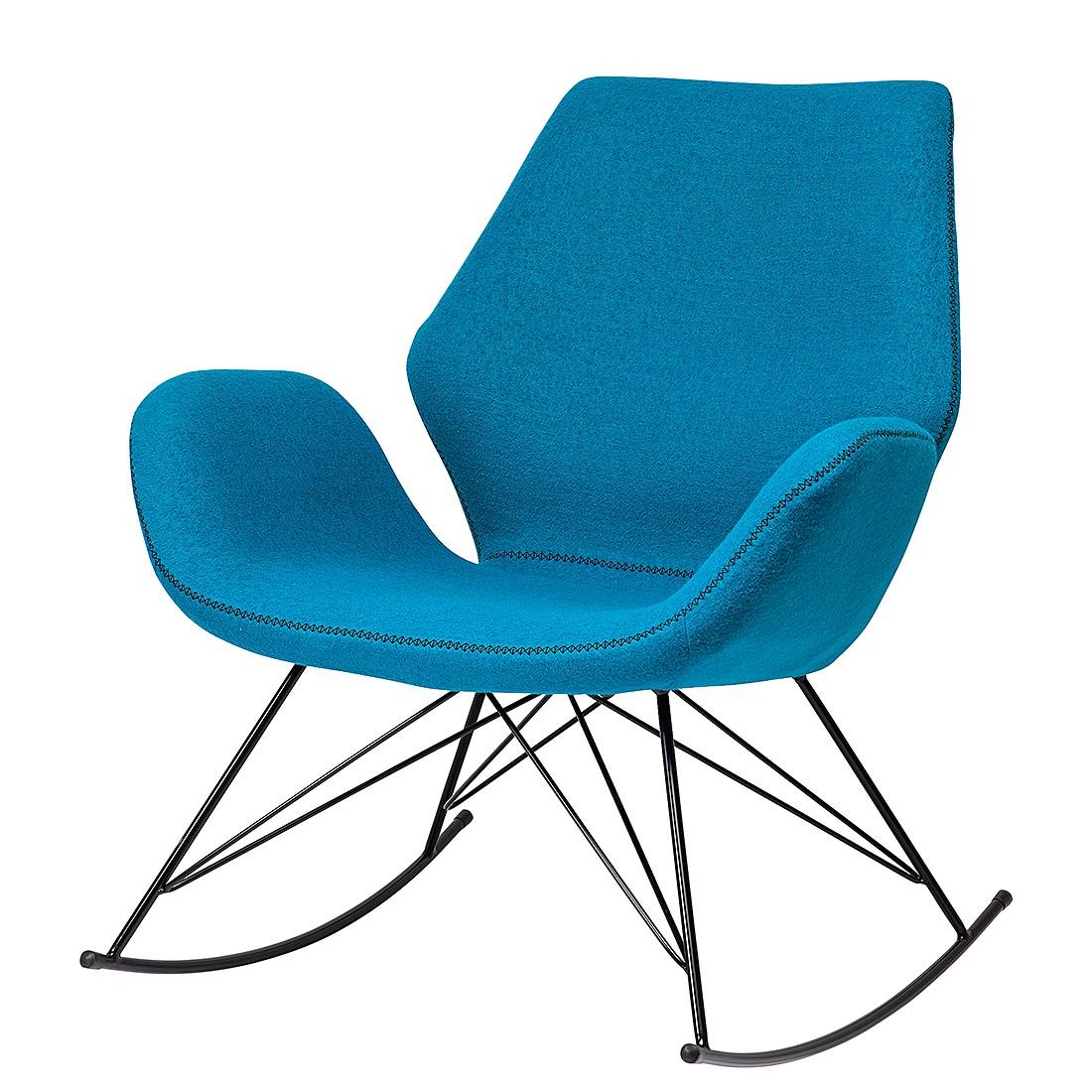 schaukelstuhl florida t rkis webstoff kare design online kaufen. Black Bedroom Furniture Sets. Home Design Ideas