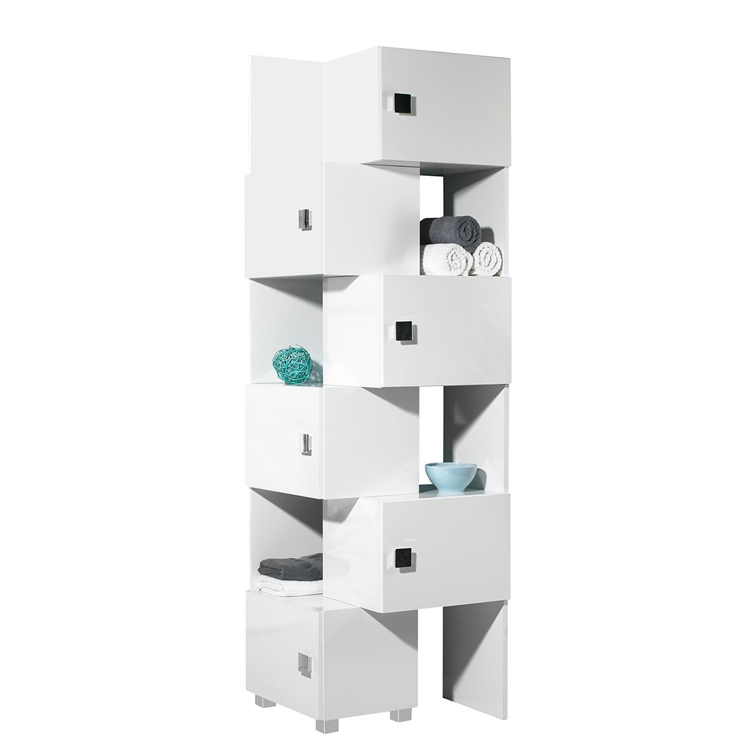 schieberegal genf 2teilig wei hochglanz schrank. Black Bedroom Furniture Sets. Home Design Ideas
