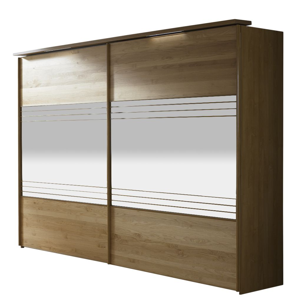 schiebet renschrank dexter kernbuche teilmassiv spiegelglas breite 300 cm. Black Bedroom Furniture Sets. Home Design Ideas