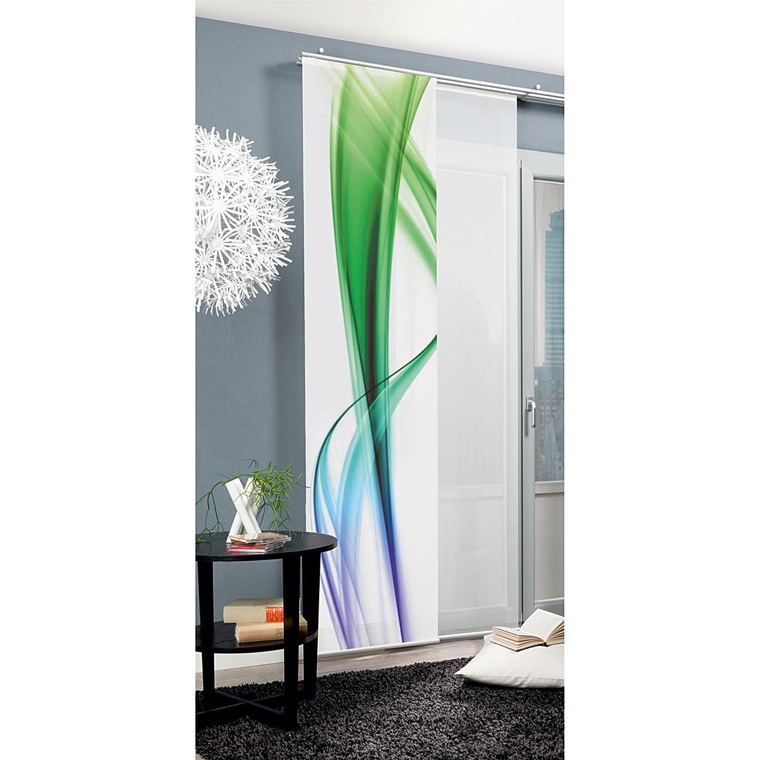 Schiebevorhang Failand – Blau / Grün, Home Wohnideen günstig