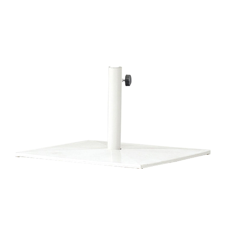 Schirmständer Shade quadratisch - Stahl - Weiß, Emu