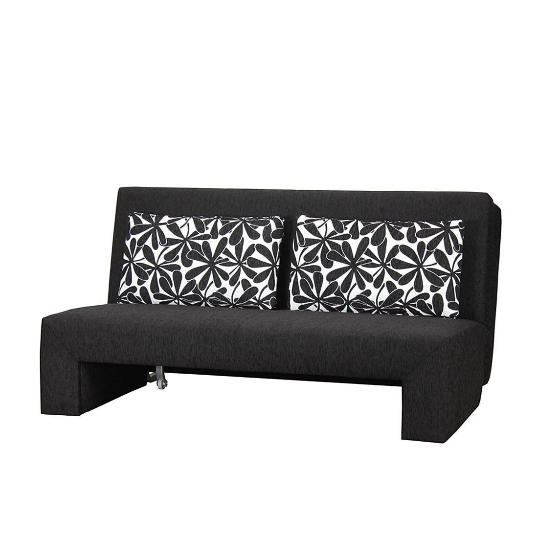 schlafcouch falke webstoff schwarz breite 155 cm topdesign kaufen. Black Bedroom Furniture Sets. Home Design Ideas