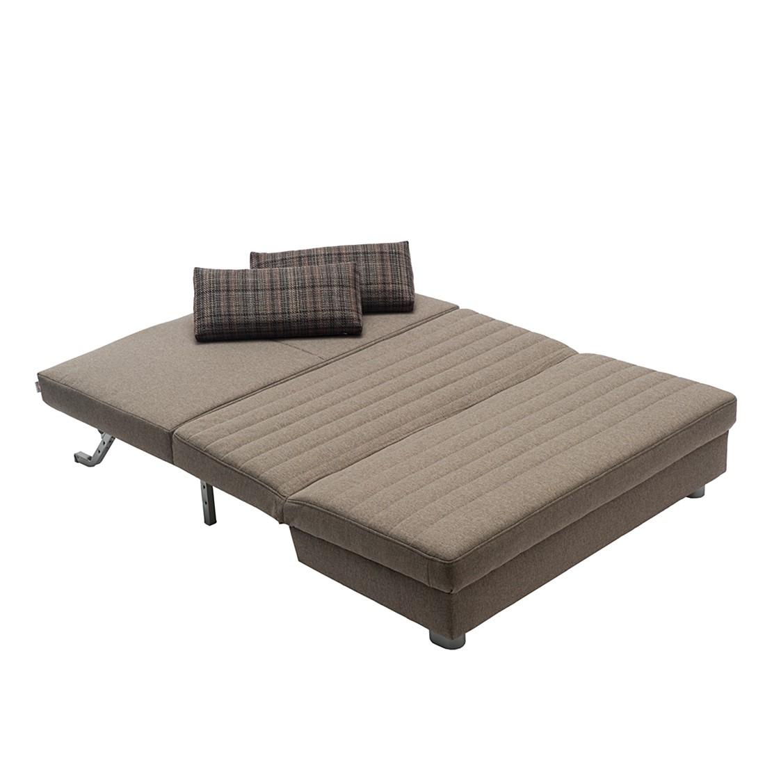 schlafcouch petra webstoff braun breite 140 cm. Black Bedroom Furniture Sets. Home Design Ideas