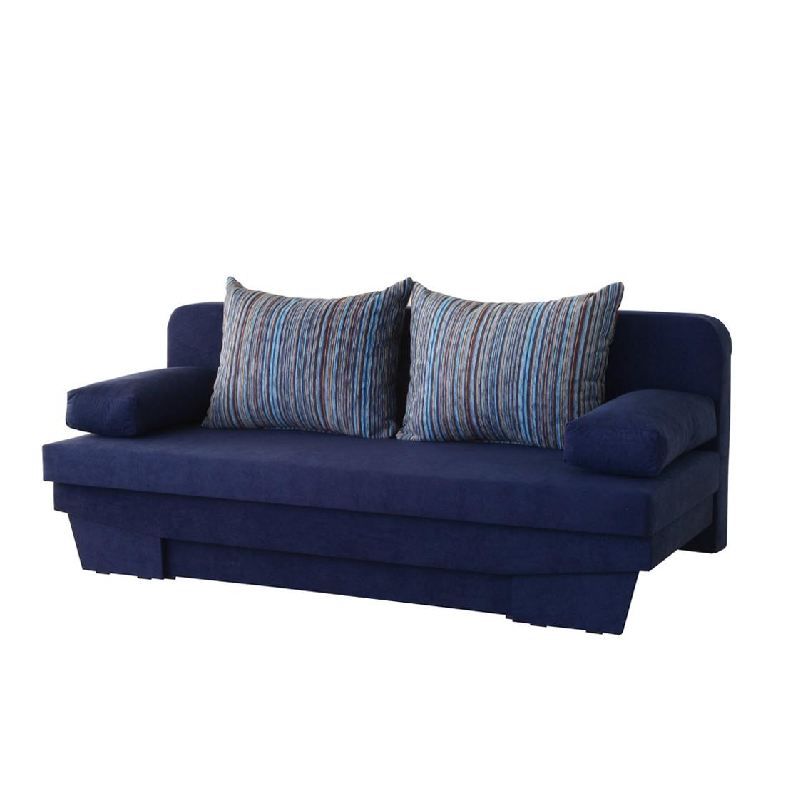 schlafcouch ron microfaser blau m llerm bel g nstig online kaufen. Black Bedroom Furniture Sets. Home Design Ideas