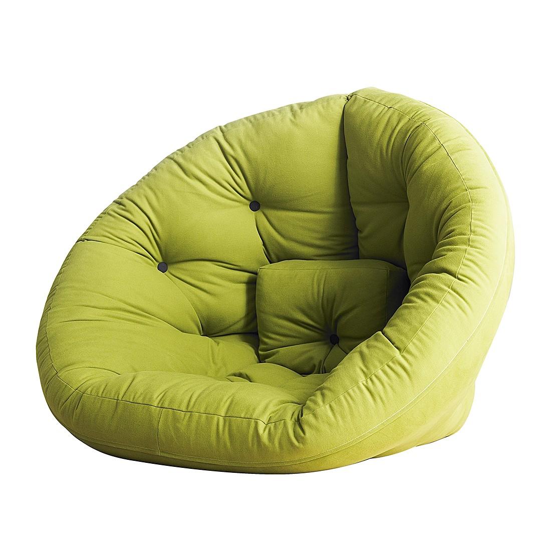 Schlafsessel Nest - Futon Hellgrün, Karup