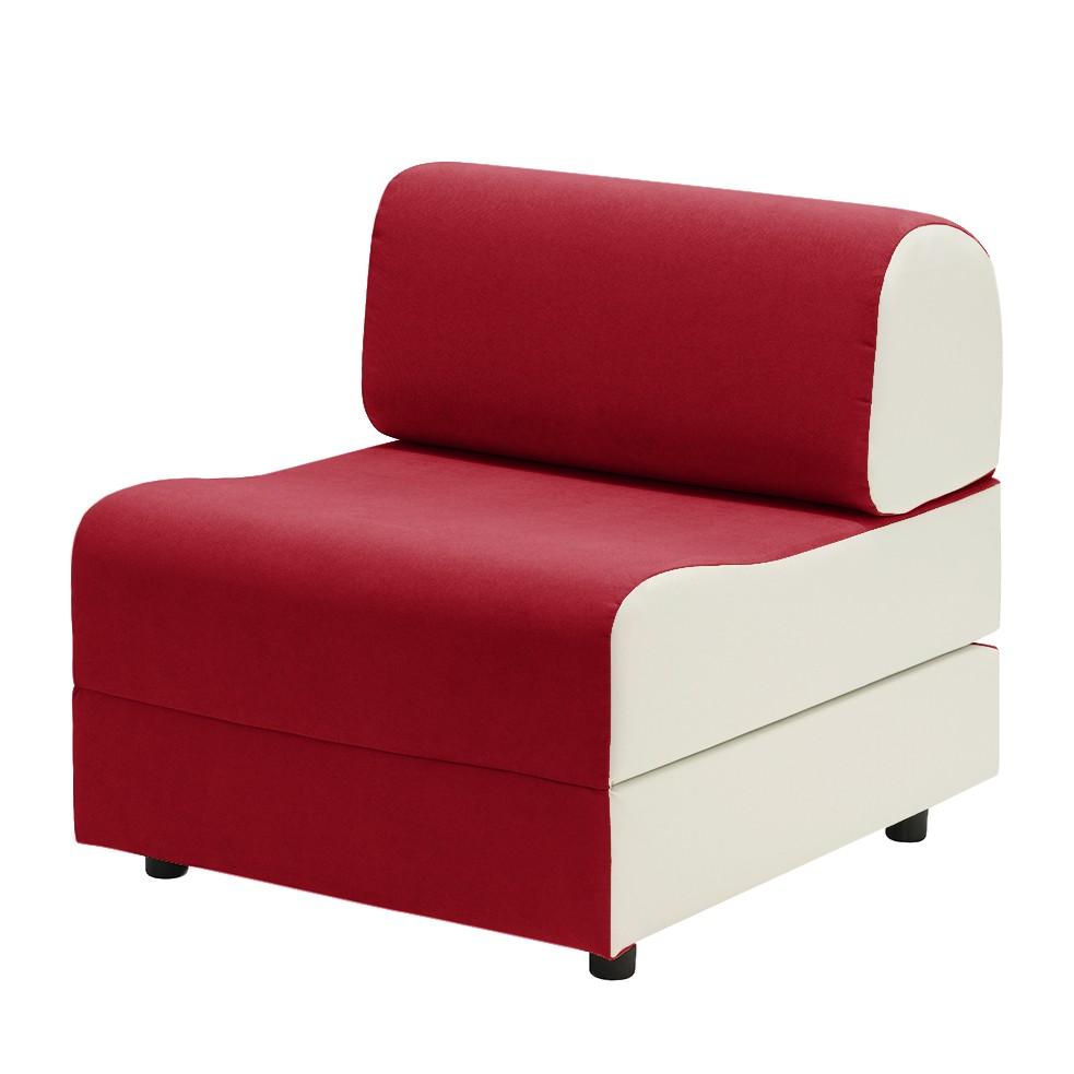 schlafsessel aritha microfaser rot wei studio. Black Bedroom Furniture Sets. Home Design Ideas