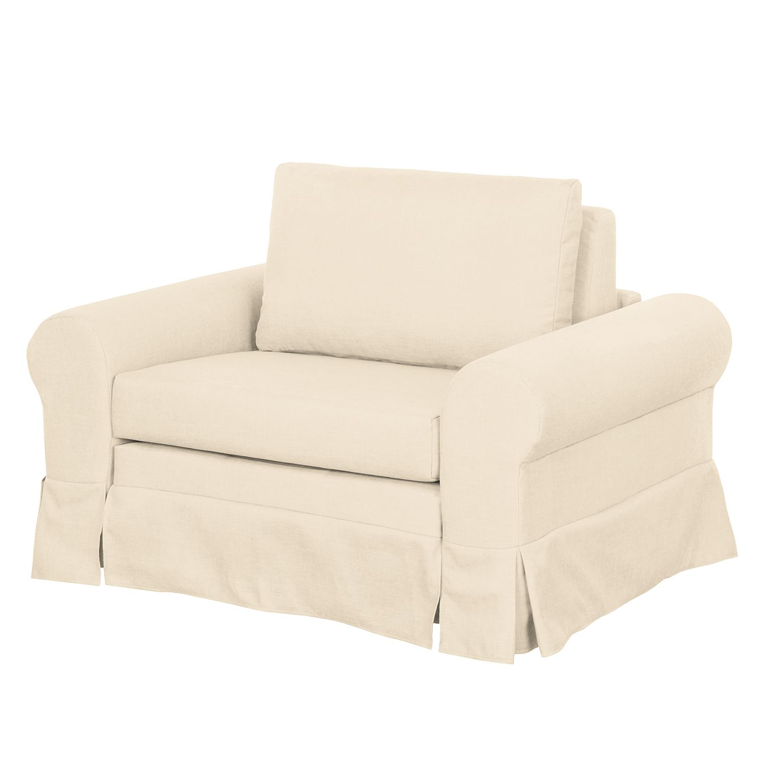Schlafsessel Couvin - Webstoff - Creme, roomscape