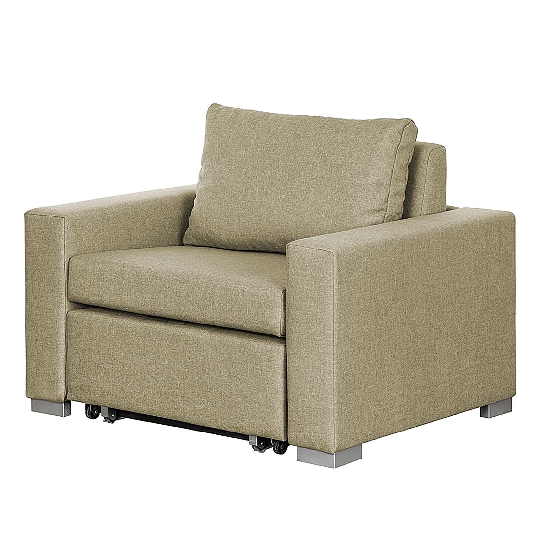 Schlafsessel Latina - Webstoff - Beige, roomscape
