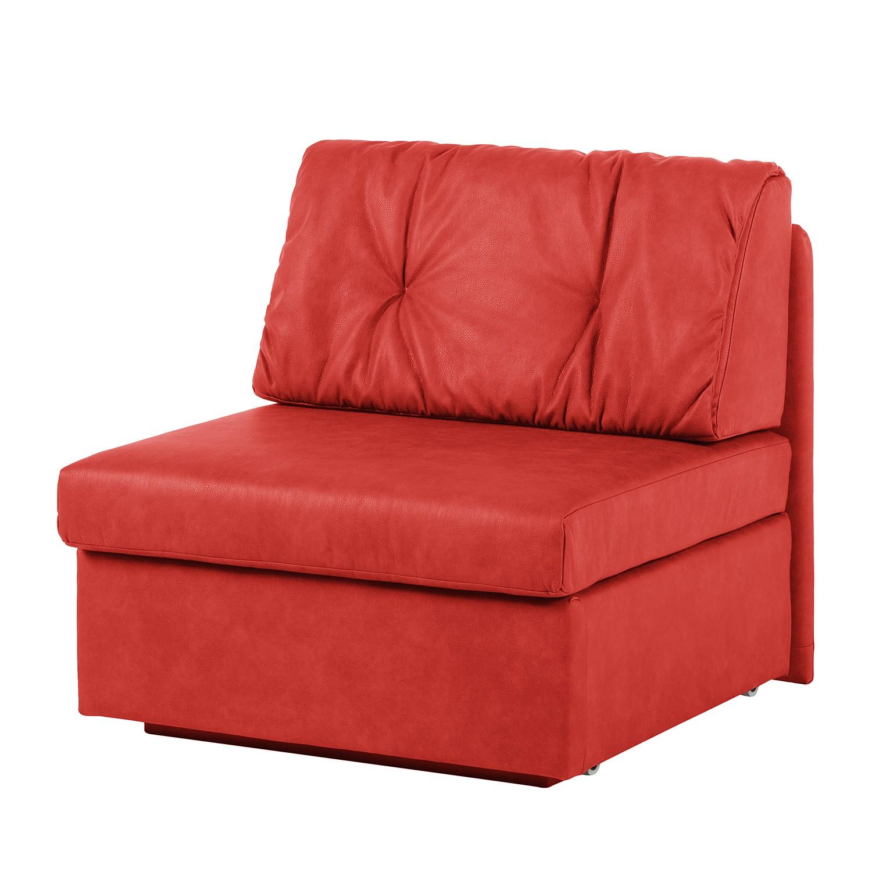 Schlafsessel Morondo - Kunstleder - Rot, Modoform
