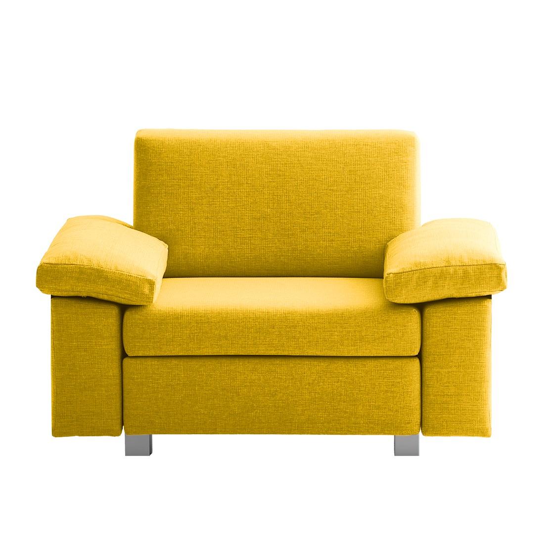 Schlafsessel Plaza - Webstoff - Gelb - Abklappbare Armlehnen, chillout by Franz Fertig